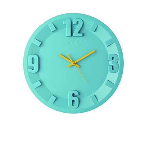 Guzzini Home Orologio da Parete 3-6-9-12, 32 x H 3,5 cm, Blu