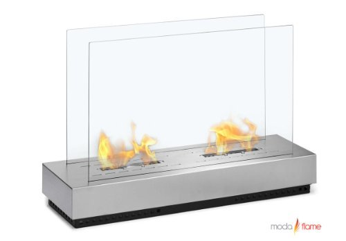 Moda Flame Braga Free Standing Bio Ethanol Fireplace by Moda Flame