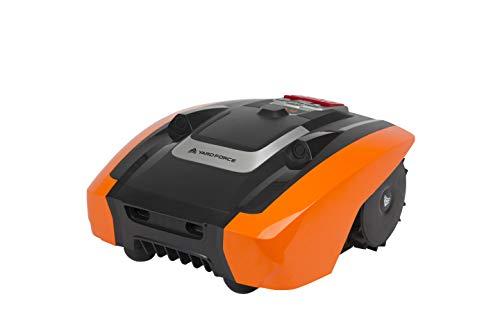 Yard Force 400 Yard Force AMIRO 400-Robot semoventi per Città con Filo perimetrale-Robot Batteria per Prato Fino a 400m ² e pendenz, 20 V, Schwarz/Orange