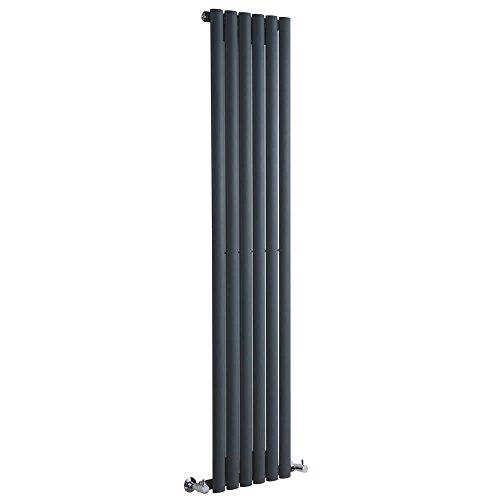 Milano Hudson Reed Vitality - Radiateur Design Vertical - Anthracite - 160 x 35,4cm