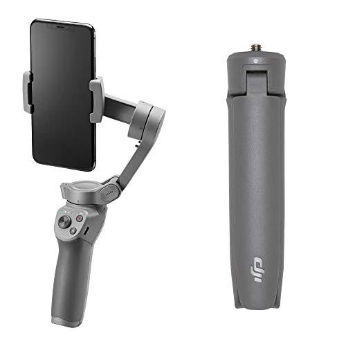 DJI Osmo Mobile 3 Combo - Stabilizzatore Gimbal a 3 Assi Compatibile con iPhone e Smartphone Android, Design Leggero e Portatile, Riprese Stabili, Controllo Intelligente + Treppiede