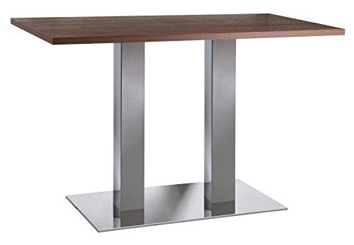 Tischgestell Edelstahl/Chrom Tischsäule 2-Säulen H 710 mm 450 kg Belastbarkeit