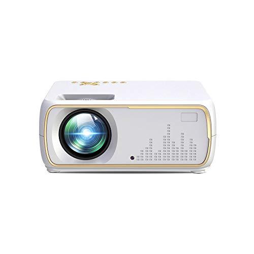 Proiettore, WiFi Wireless, Mini Portatile, Interfaccia USB, Home Theatre, Supporto Massimo per 1080P, Lunga Vita,Bianca