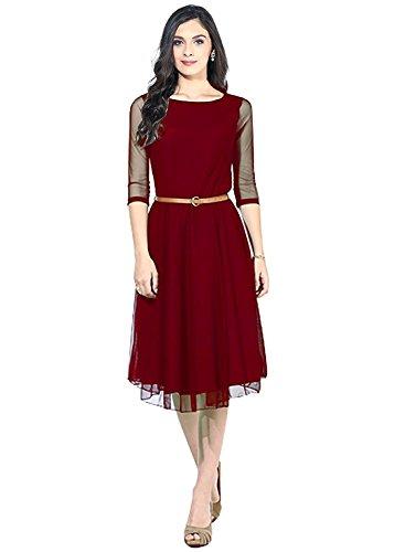 Kurti (Women's Kurtas Maroon Color Size : XL)