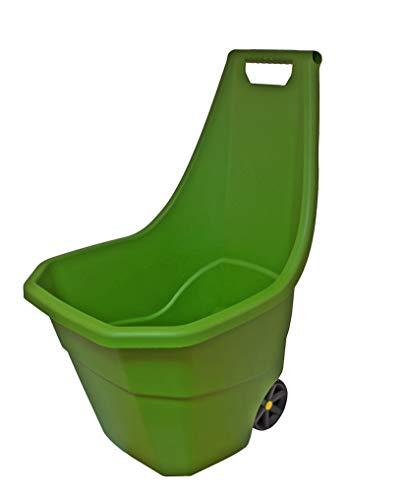 Garten-Trolley Grün - 55 Liter Volumen - Gartenkarre Kunststoff leichtgängiges Rollenpaar 55 kg Traglast