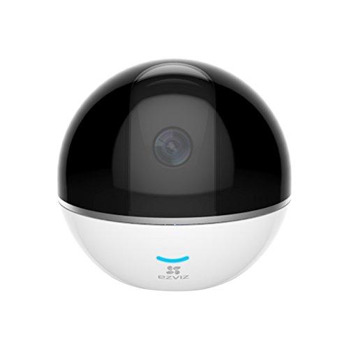 EZVIZ C6T Telecamera WiFi di Sorveglianza, Full HD 1080p, Audio Bidirezionale, Maschera Intelligente della Privacy, Panorama 360°, Funzione Giorno/Notte, Bianco