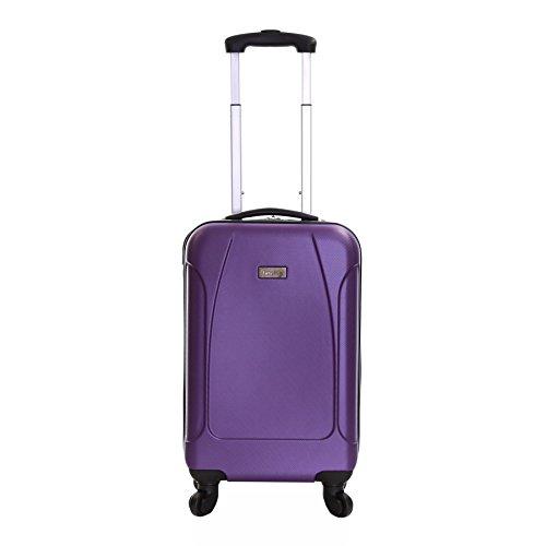 Karabar bagaglio a mano dura valigia rigida 55 cm 2,4 kg 35 litri con 4 ruote robuste, Evora Viola