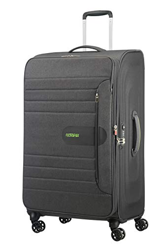 American Tourister Sonicsurfer - Spinner 80/30 Expandable Koffer, 80 cm, 125 L, Dark Shadow