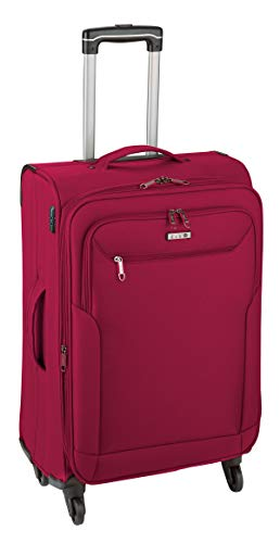 Koffer L Mittel Rot 67 x41x29cm Weich Reise Reise Trolley 2,7 kg Leicht Bowatex