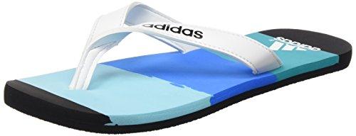 adidas Eezay Striped, Infradito Uomo, Multicolore Azul/Blanco/Azul (Azuimp/Ftwbla/Briazu), 47 1/3