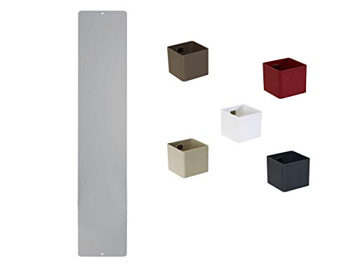 KalaMitica, Set lavagna magnetica argento 14 x 70 cm con 5 inclusivi di Chen pentole Mini dadi Ø 6...