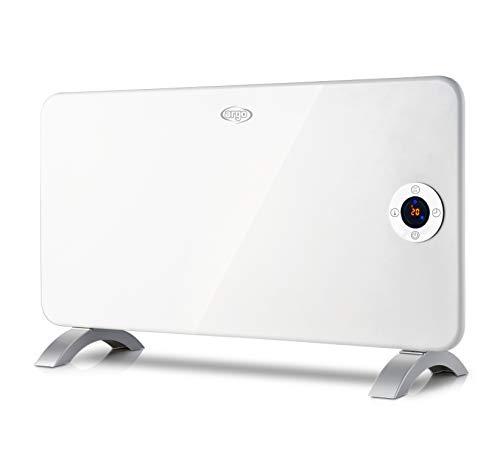 Argo Minimal Termoconvettore Elettrico con Struttura in Metallo, Bianco/Argento