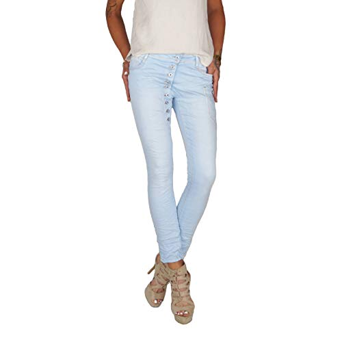 Dresscode-Berlin DB Damen Baggy Boyfriend Jeans in beige, Khaki, Ocker, weiß, Terracotta, blau und grau