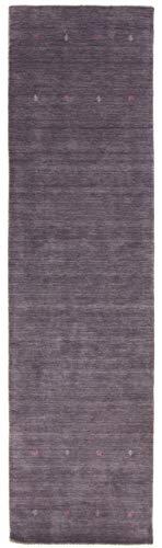 CarpetFine: Tappeto Gabbeh Uni Passatoia 75x240 cm Grigio - Monocromatico