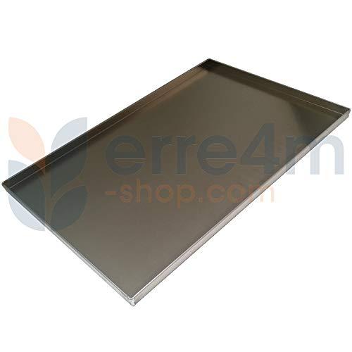 Erre4m Teglia Forno Professionale cm 60x40x4(h.) in Alluminio