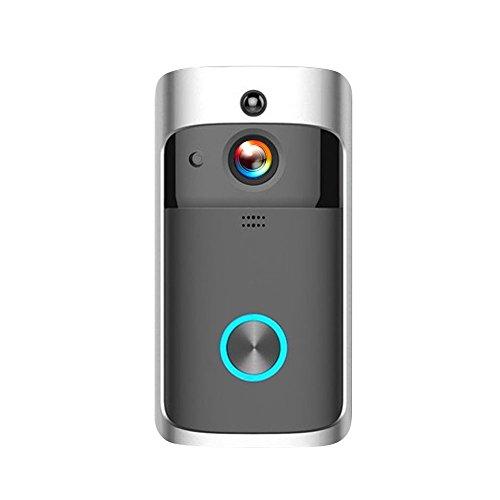 OWSOO Citofoni Sicurezza DoorBell WiFi Wireless Smart HD 720P Visual Interfono Registrazione...