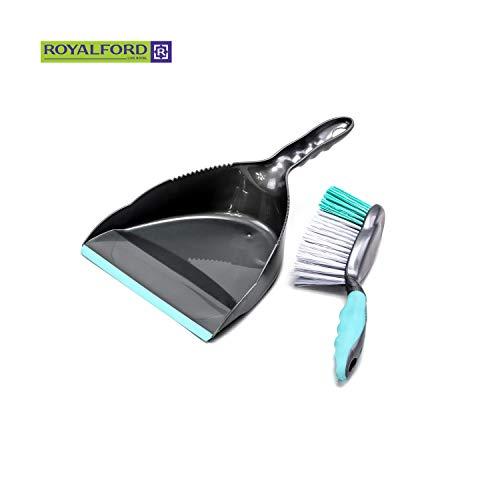 Royalford – Juego de escoba y escoba con cerdas sintéticas con puntas rizadas y en ángulo