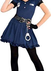 GIRLS COP CUTIE COSTUME - LARGE (8 - 10 YEARS)