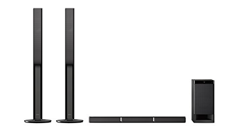 Sony HT-RT4 5.1 Sound Bar System (600 W, altoparlanti posteriori alti, HDMI, USB, NFC/Bluetooth), Nero