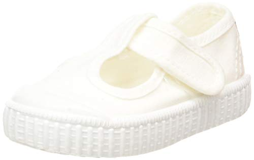 victoria 1915 Sandalia Lona Tintada Velcro, Sneaker Unisex-Bimbi, Bianco (Blanco 20), 21 EU