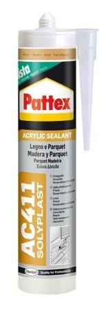 Pattex 1611915- Silicone Acrilico Per Legno E Parquet, Ac411 Noce
