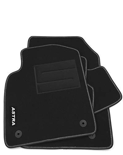 ASC tappetini per Astra J 2009-2015 tappeti Auto in Moquette con battitacco e Bottoni