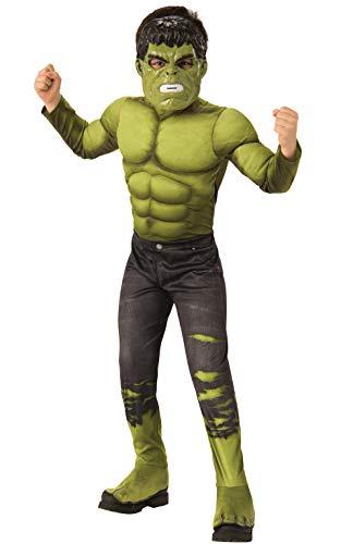 Rubie's, Costume Ufficiale da Hulk, Hulk, per Bambini di età Compresa tra 3 e 4 Anni, Altezza 117...