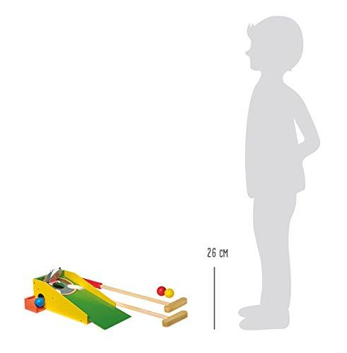 8177 Minigolf Talpa small foot in legno colorato, con due mazze e quattro palline colorate, a partir