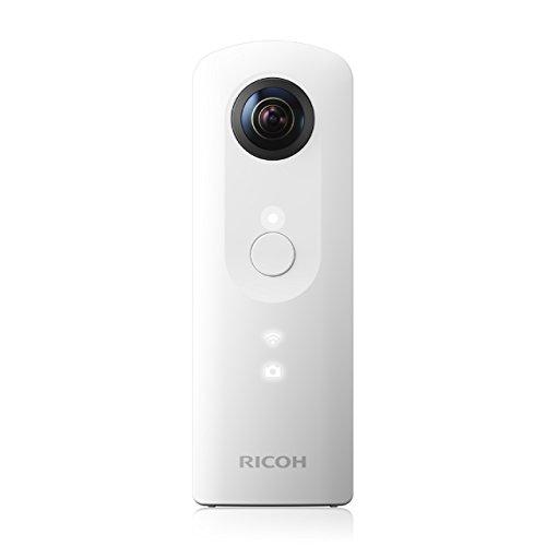 Ricoh Theta SC weiß 360 Grad Vollsphärenkamera (2x 12 MP, Full-HD-Video, 8GB interner Speicher, lichtstarkes Objektiv F 2.0)