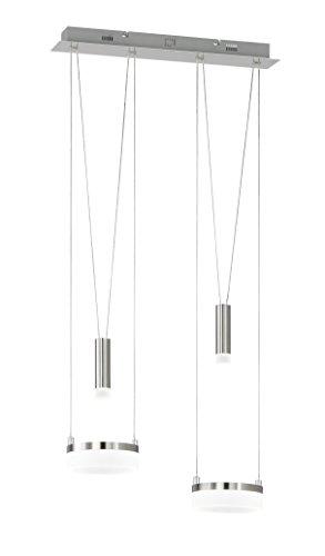 WOFI Pendelleuchte, Aluminium^Acryl, Integriert, 17 W, H: 150 cm x B: 15 cm x L: 48 cm