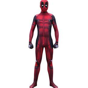 GanSouy Marvel Deadpool Disfraz Disfraz Adulto Niños Halloween Cosplay Traje Traje Spandex Monos Cosplay Deadpool Disfraz