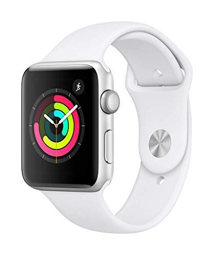 AppleWatchSeries3 (GPS) concaja de 42mm de aluminio enplata ycorrea deportiva - Blanca