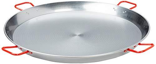 La Ideal 2898300 Paellera in Ferro Spazzolato, Diametro 90 cm, Argento