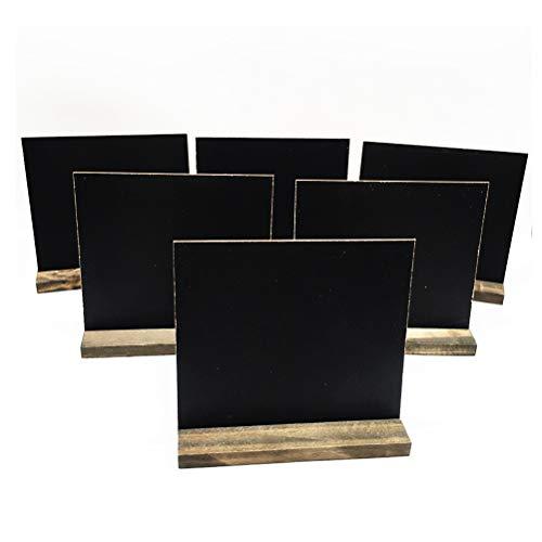 Toyvian - Set di 8 Mini lavagnette in Legno per messaggi, segnaposto da Tavolo per Matrimoni, con...
