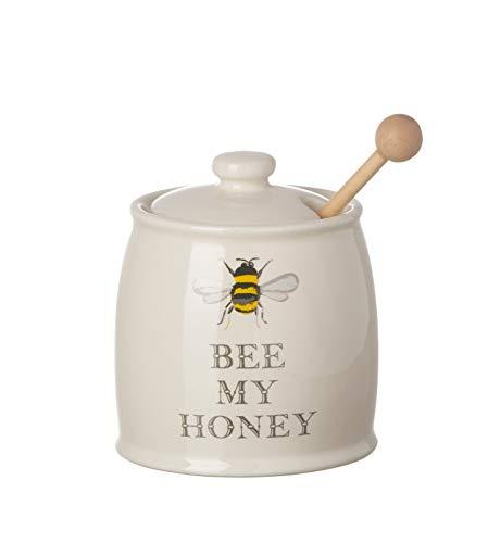 "Majestic ""Bee My Honey"" Keramik Honig Topf und Dipper"