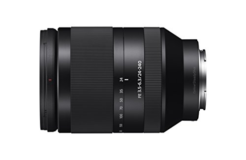 Sony SEL-24240 Weitwinkel-Zoom Objektiv (24-240 mm, F3.5-6.3, OSS, Vollformat, geeignet für A7, A6000, A5100, A5000 und Nex Serien, E-Mount) schwarz