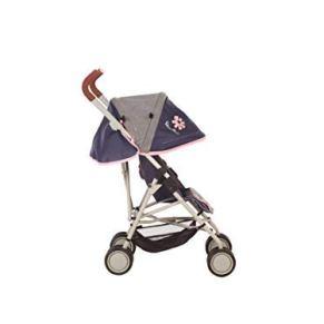 Silver Cross Silla de Paseo para muñecas Pop MAX: Tejido Vintage Blue . Recomendado para niños de 4 a 9 años.