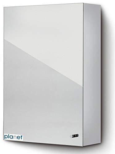 Planet Platinum 304 Grade Stainless Steel Bathroom Cabinet with mirror door/Bathroom Accessories(Chrome Finish)
