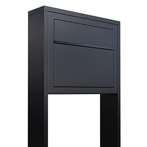 Standbriefkasten, Design Briefkasten Elegance Stand in Schwarz