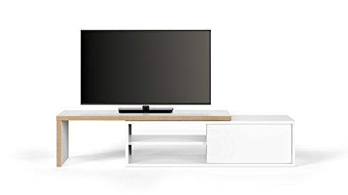 TemaHome Move Mobile Porta TV, Legno, White, 110 x 35.4 x 32 cm