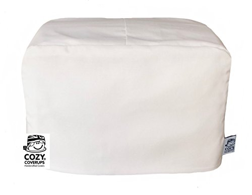 Cozycoverup, copertura antipolvere per tostapane, colore bianco, 2 fessure lunghe 20 cm x 20 cm x 40...