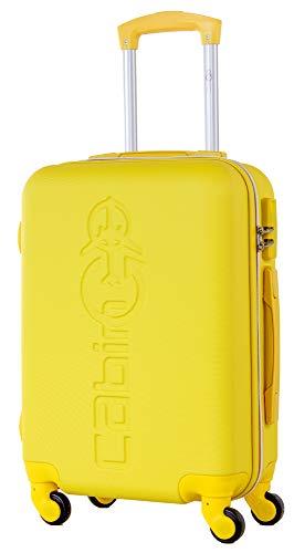 CABIN GO MAX 5585 - Trolley rigido in ABS grande valigia con ruote, 55x40x20 cm utilizzabile come...