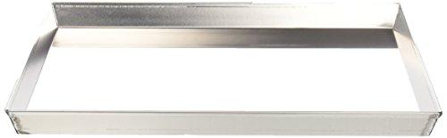 Ballarini 7044.40 Teglia Rettangolare, Angoli Svasati con Bordo in Alluminio Crudo, 40x30