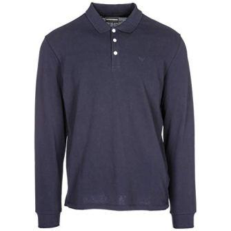 Emporio-Armani-Camiseta-de-Manga-Larga-Hombre-BLU