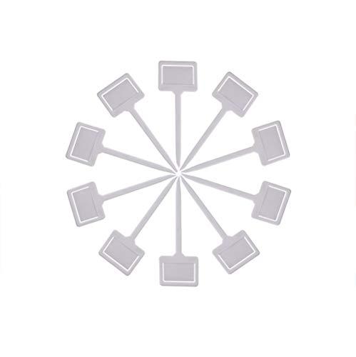Etiqueta que cultiva un huerto, etiqueta plástica en forma de T de la etiqueta del cuarto de niños de la flor de la planta de jardín para el jardín (WH)