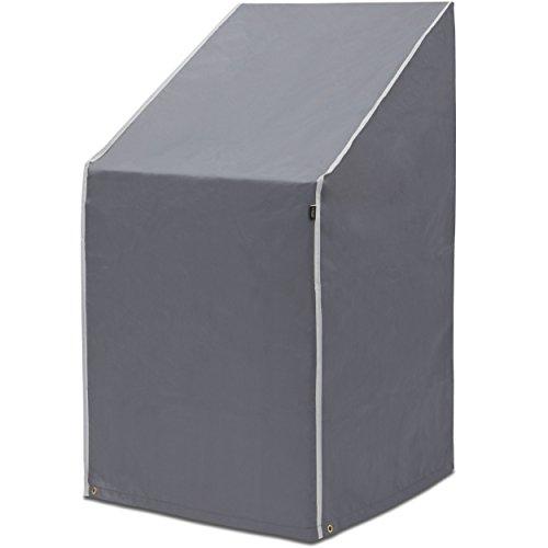 Purovi® Schutzhülle für Stapelstühle | Abdeckung für Gartenstühle und Balkonstühle | Oxford Gewebe | Wetterschutz | Wasserdicht | UV-Schutz