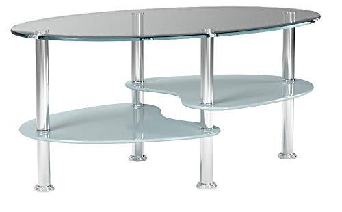 vidaXL Tavolino Design Esclusivo 3 Ripiani Bianco, 1