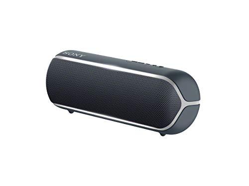 Sony SRS-XB22 Speaker Compatto, Portatile, Resistente all'Acqua con EXTRA BASS e Luci, Nero