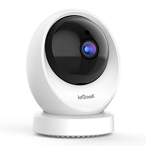 ieGeek 1080P Telecamera Wi-Fi Interno, Videocamera Sorveglianza Interno WiFi, Telecamera Wifi,...