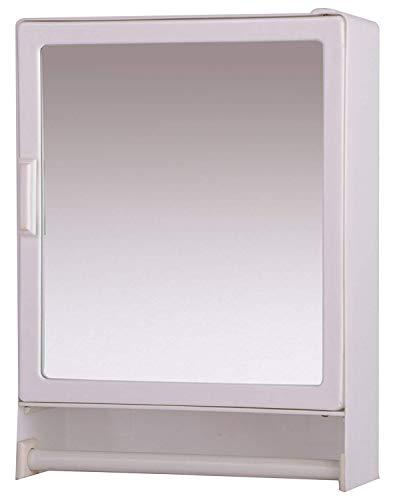 Riya Bathroom Cabinet with Mirror Door (White, 10x4x14)